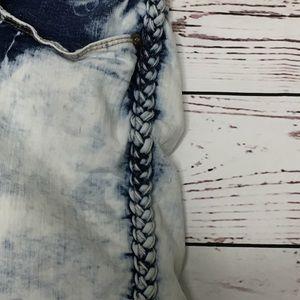 Amethyst Jeans Shorts - Amethyst 22 acid wash shorts